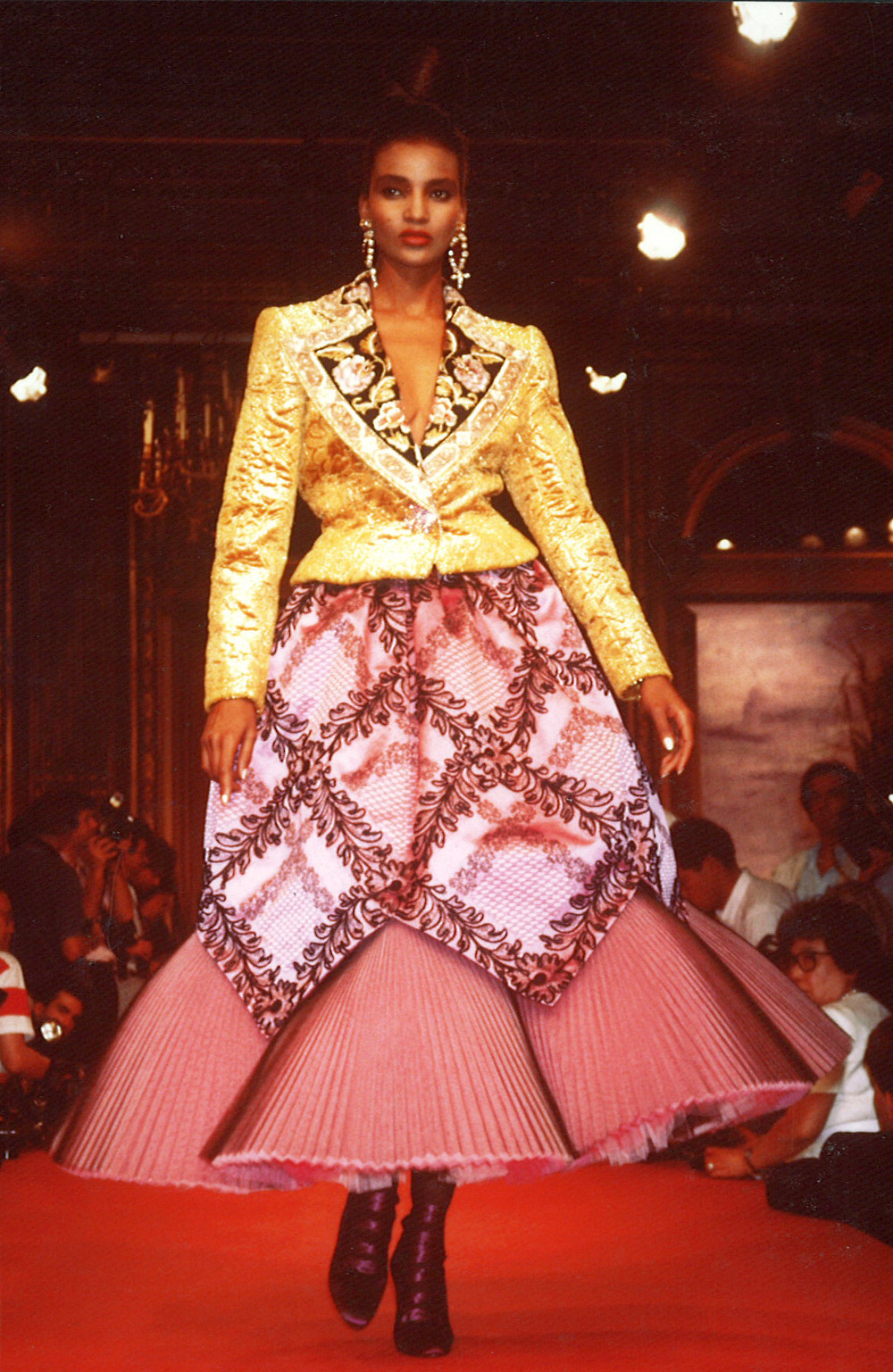 Model wearing Christian Lacroix - 1987 autumn/winter collection