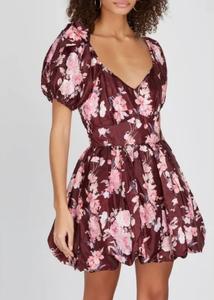 LoveShackFancy Puff Sleeve Floral Dress
