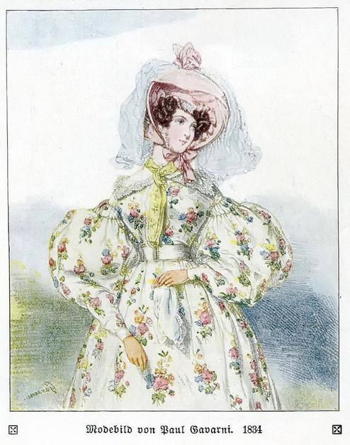 Leg of mutton sleeve 1834 illustration