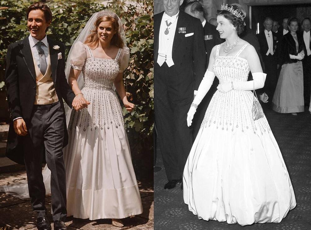 Princess Beatrice puff sleeve wedding dress