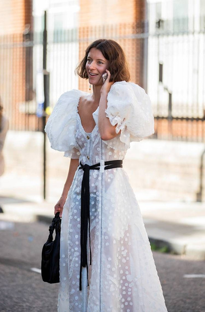 white puff sleeve dress uk