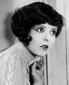 Clara Bow with a shocked expression