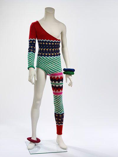 Kansai Yamamoto Asymmetric Knitted Bodysuit