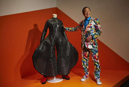 Kansai Yamamoto With His Tokyo Pop Jumpsuit
