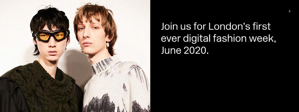 London Fashion Week June 2020 banner