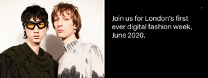 London Fashion Week June 2020 banner