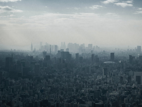 Polluted Tokyo City Scape