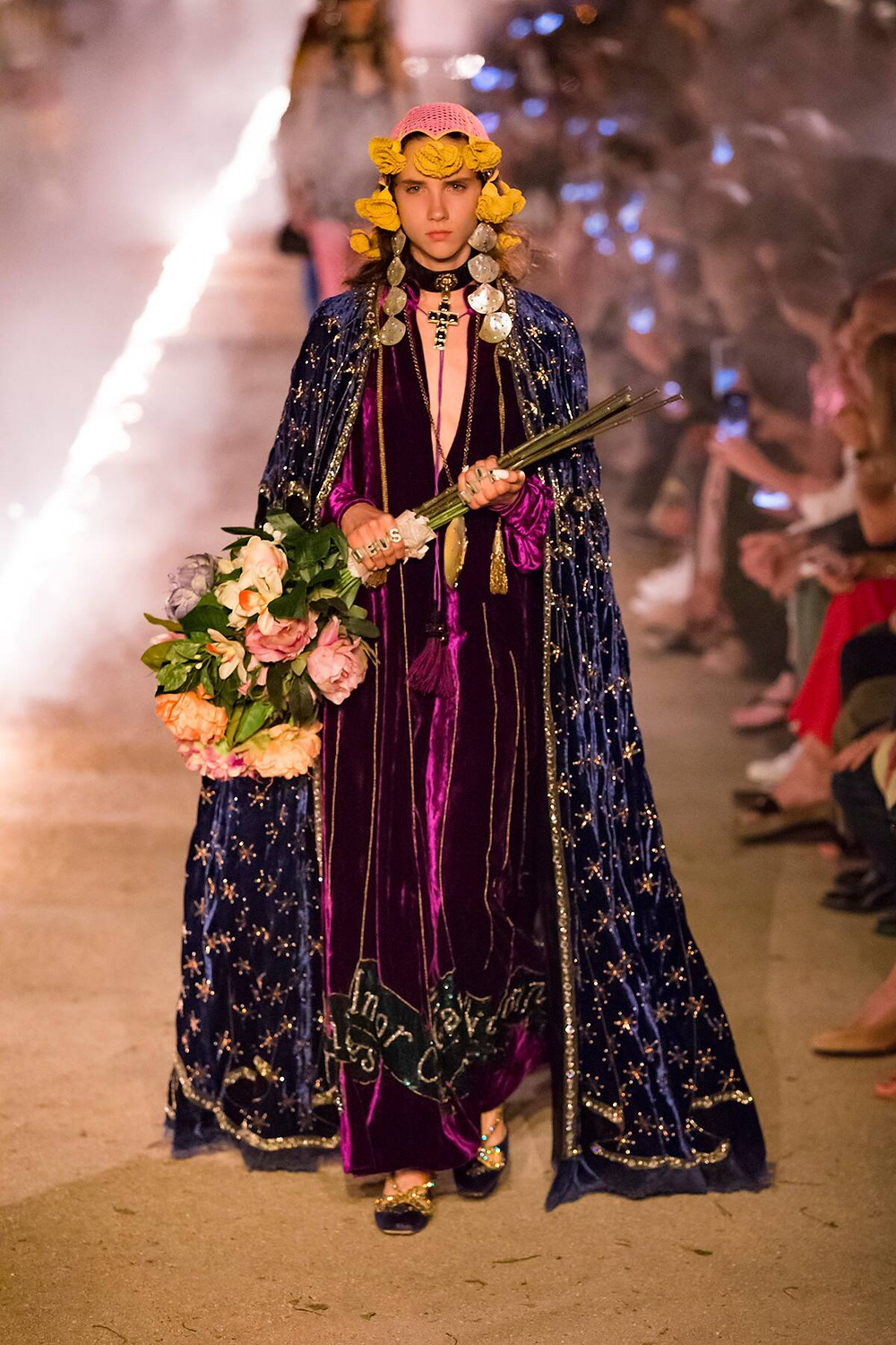 Model wearing Gucci - Spring/Summer Collection 2019