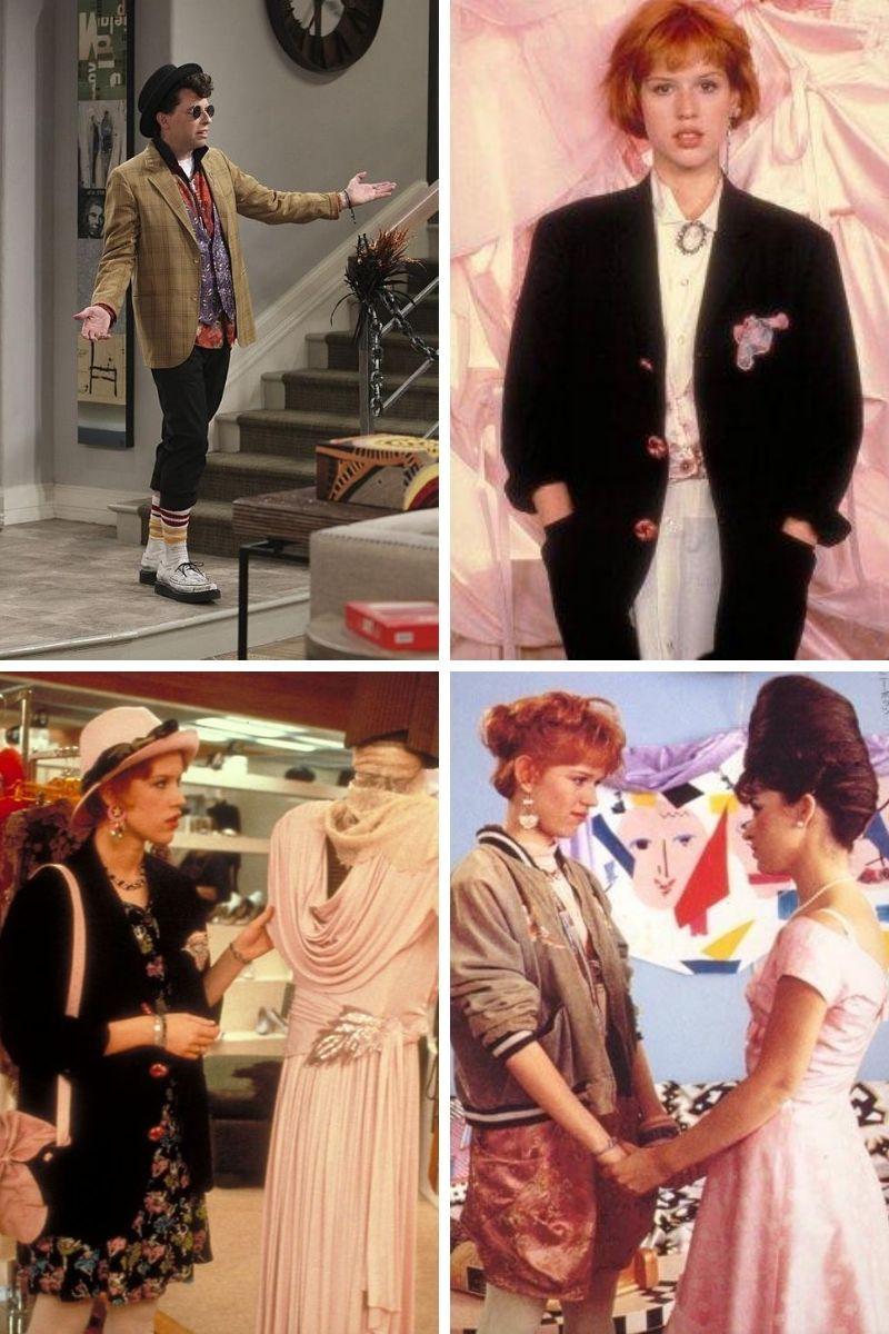 Stills collage from Howard Deutch's Pretty in Pink.