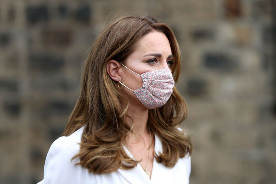 Duchess of Cambridge in a floral face mask
