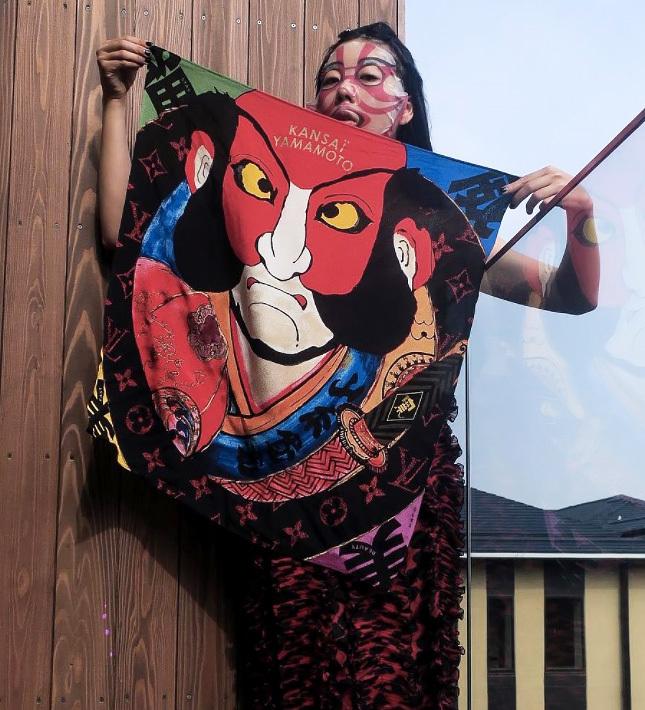 Kansai Yamamoto Basara Kabuki Scarf Design