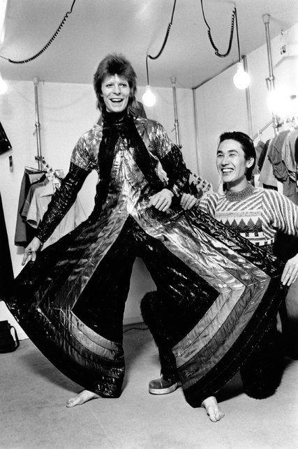 Kansai Yamamoto and David Bowie