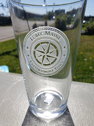 Crystal Etched 16oz pint glass