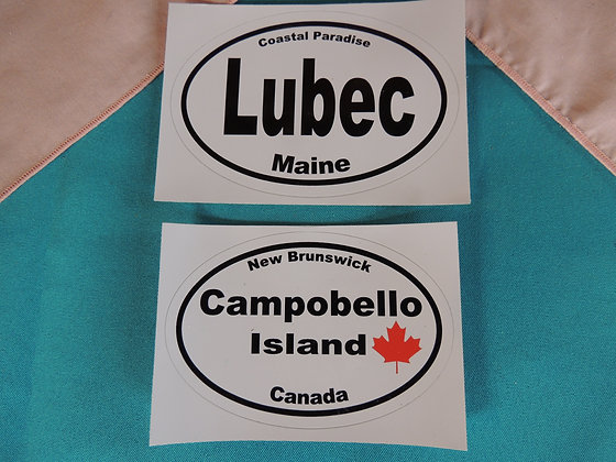 Lubec or Campobello Car Stickers