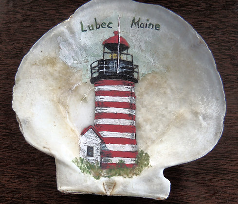 Genuine Lubec Scallop Shell-Locally Handpainted