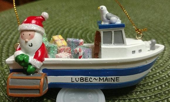 Santa on the Lobster boat!