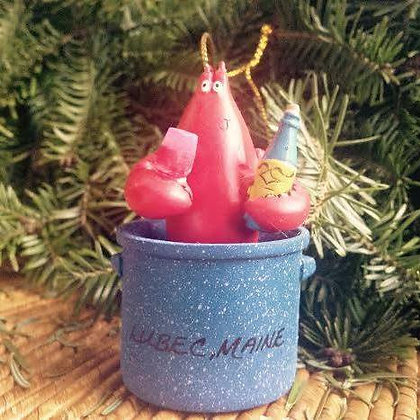Lobster in Pot~ Lubec Ornament