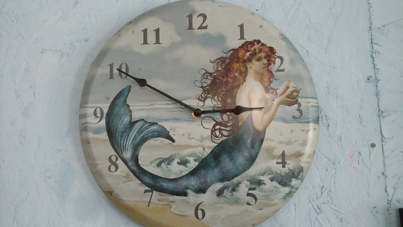 Mermaid Tin Clock!