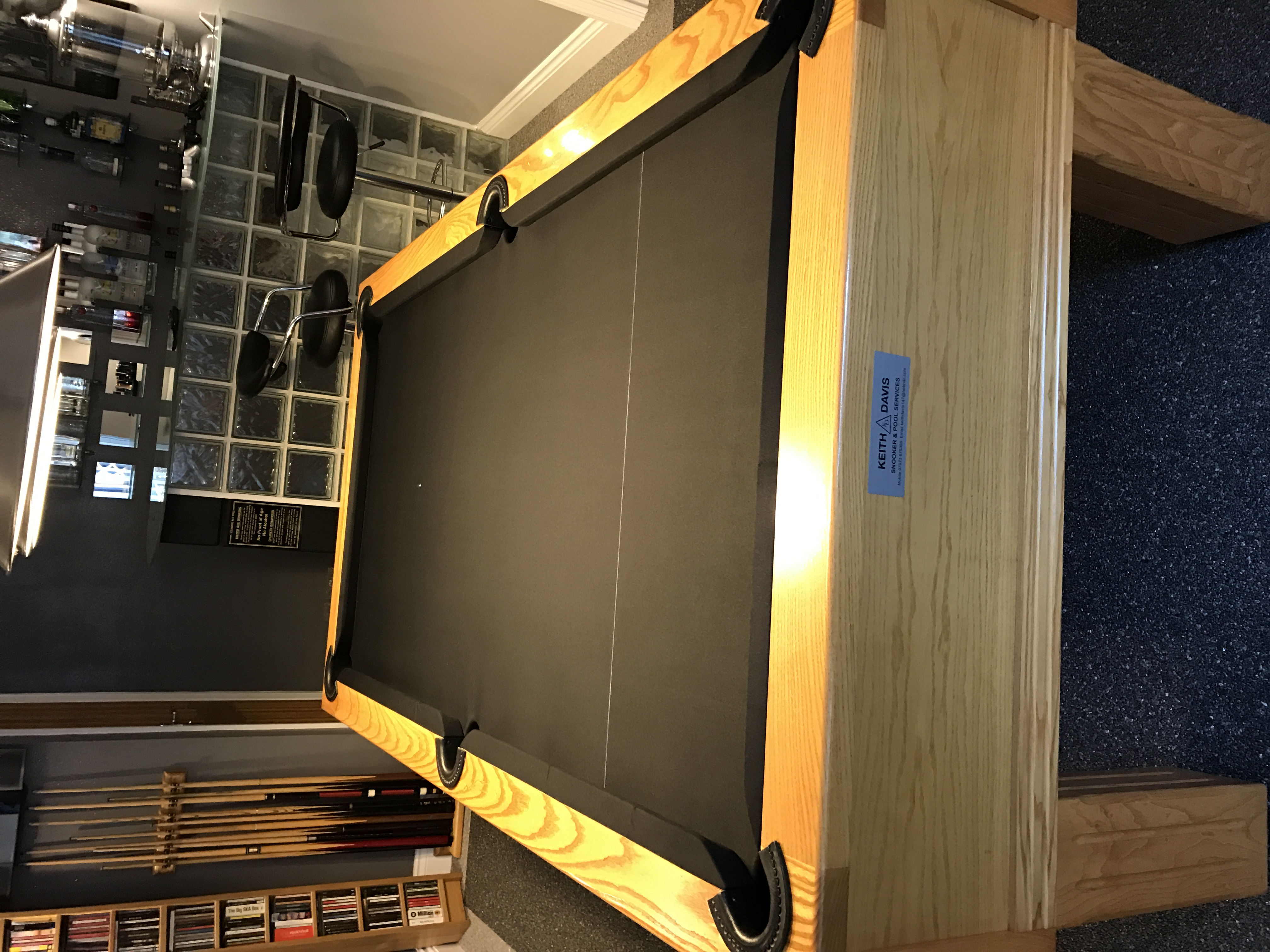 Stripped Pool Table