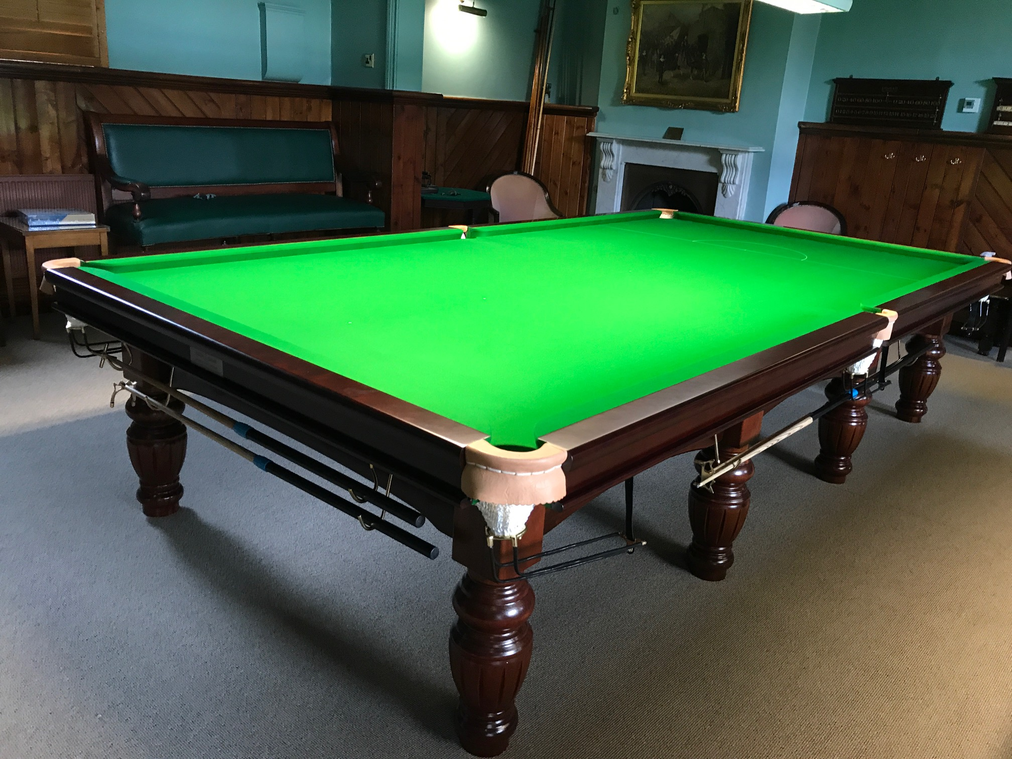Snooker Table Reclothed