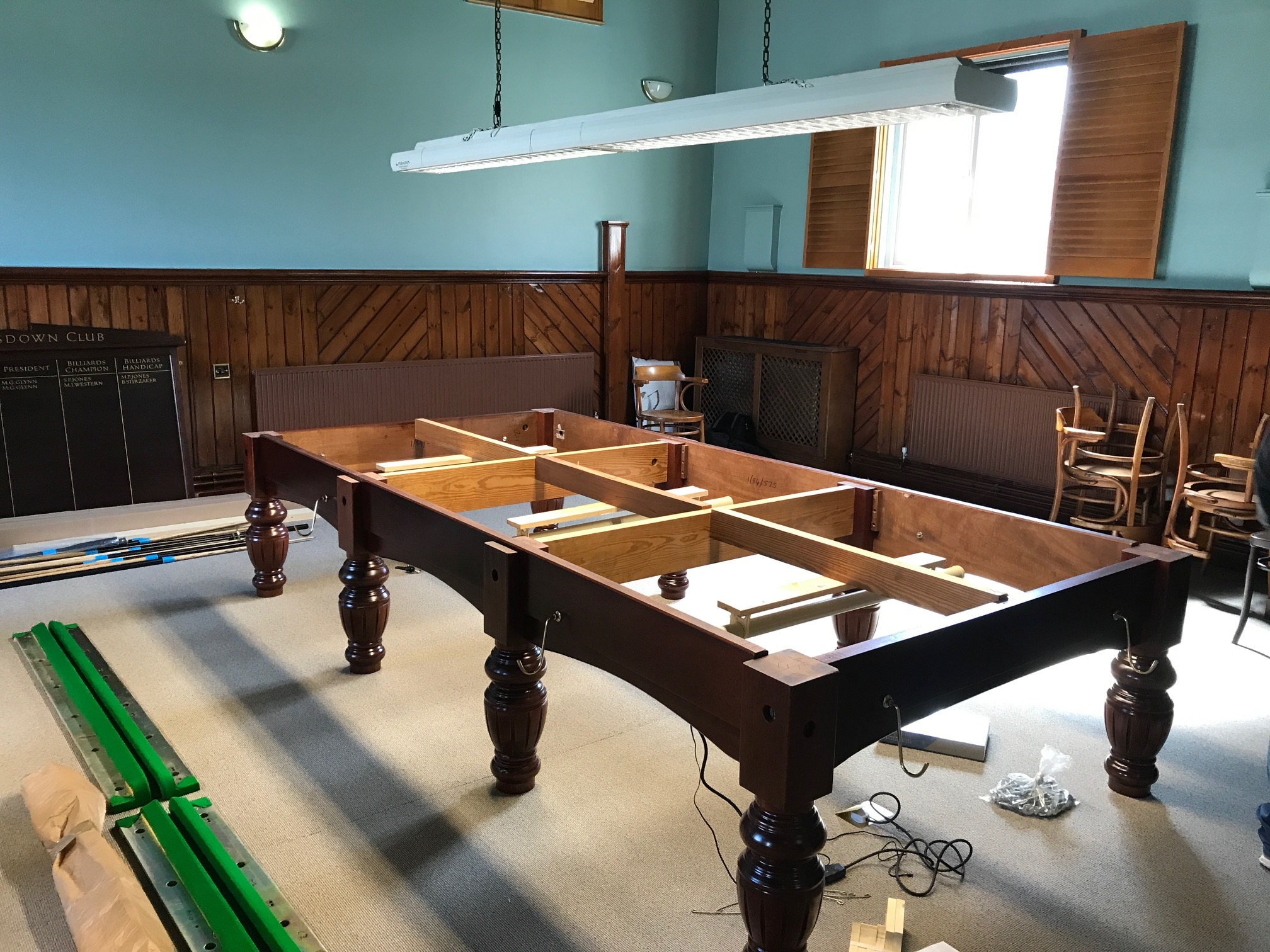 Snooker Table Stripped