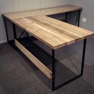 "Rustic Industrial ""L"" Desk"