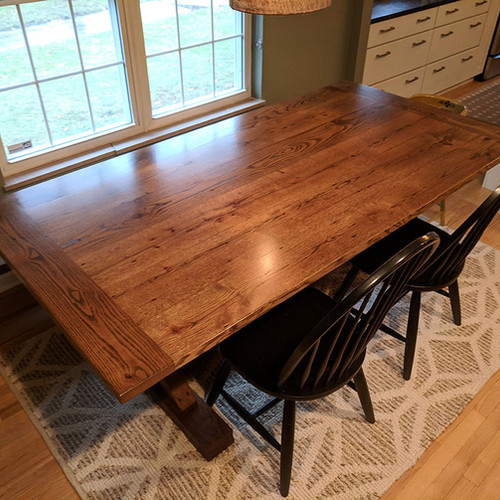 Farmhouse trestle table