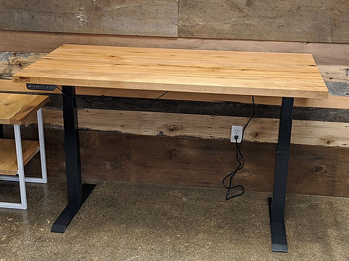 Sit - Stand Adjustable Height Reclaimed Wood Desk