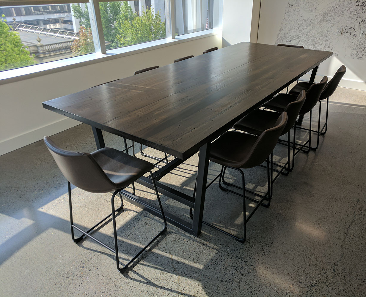 Pacwest Building Recalimed Wood Conference Table