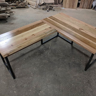 Mixed Species Reclaimed Hardwood Desk