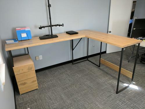 "Standing Height ""L"" Desk"
