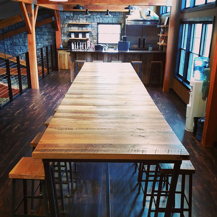 Caneel Group Rustic Industrial Reclaimed Wood Cafe Table