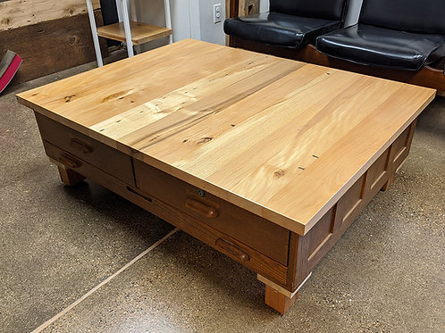 Antique Flat File Coffee Table