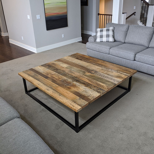 60x60 Rustic Industrial Coffee Table