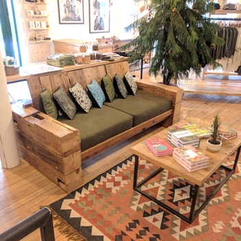 Reclaimed Barn Beam Couch