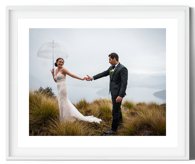 framed photograph couple getting married