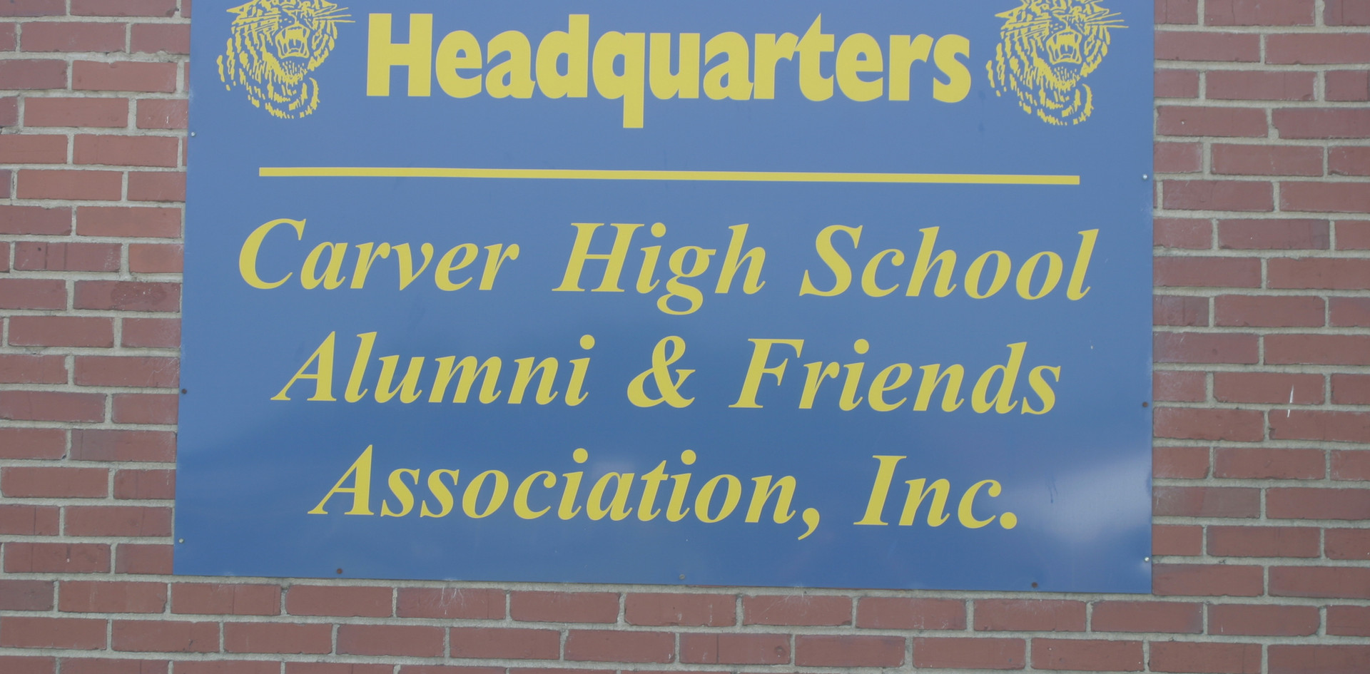 Carver High School Alumni & Friends Wall Plaque