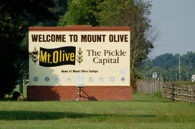 Welcome to Mt. Olive Sign