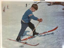 Young boy having fun.