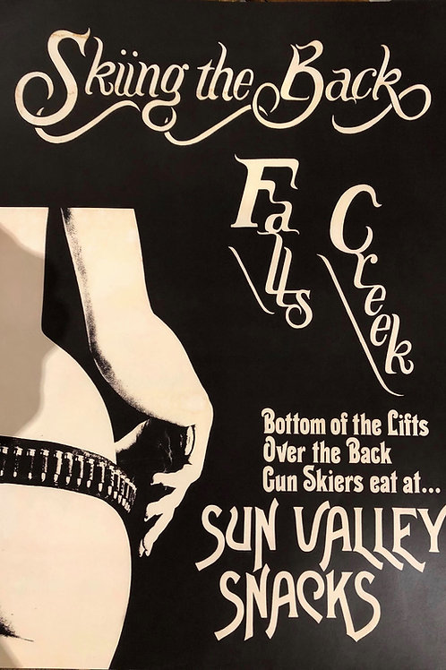 Poster - 'Skiing the Back/Sun Valley Snacks'