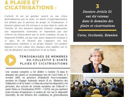 Article 51 & Plaies et Cicatrisations : podcasts de Catel Paris
