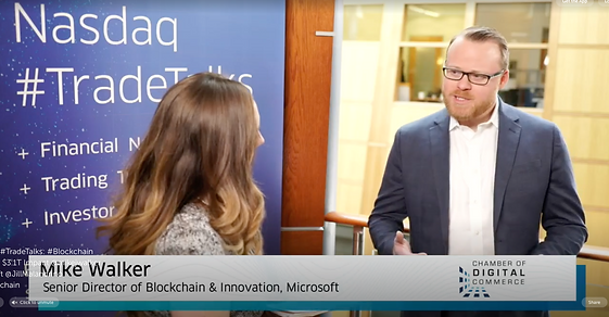 Mike J Walker Nasdaq Blockchain Intervie
