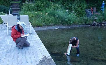 Tests sur les polyphythons dans le lac