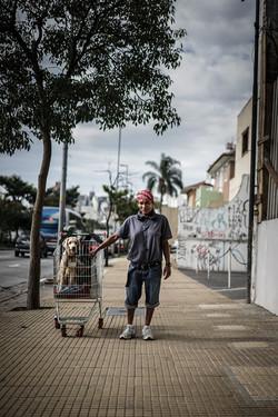 Morador de Rua e seu cão - Itaim