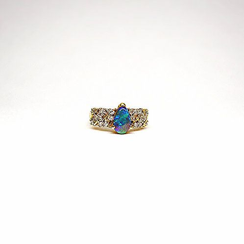 Opal 14k Gold Ring