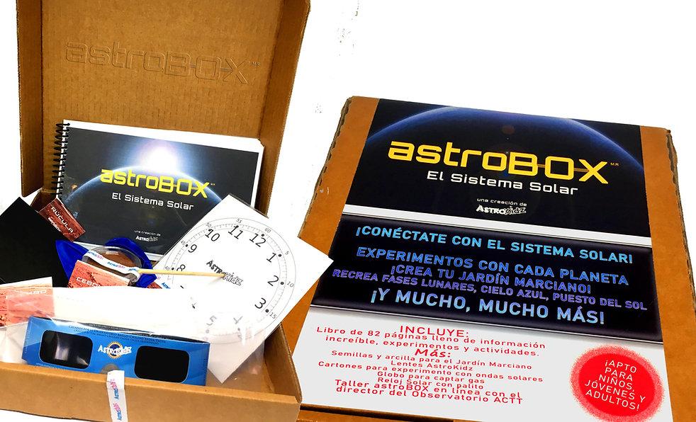astroBOX El Sistema Solar contenido y ca