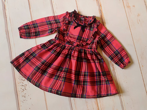 Sukienka świąteczna krata