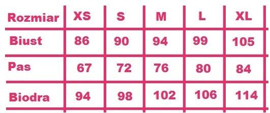 Tabela rozmiary damskie
