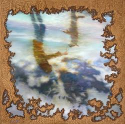 쫑과 함께한 바닷가 80cm X 80cm Oil & Mixed Media