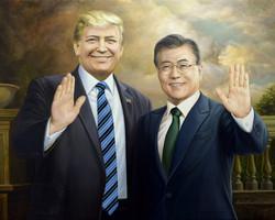 문재인 트럼프 대통령74.5X59.5